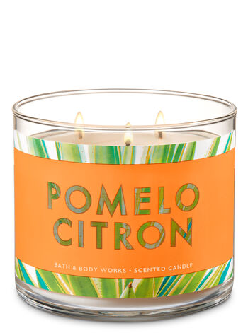 Pomelo Citron 3-Wick Candle - Bath And Body Works