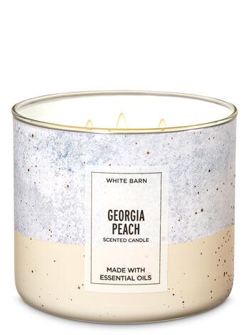 White Barn Georgia Peach 3-Wick Candle - Bath And Body Works