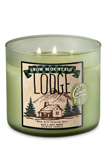 Snow Mountain Lodge 3-Wick Candle - Bath And Body Works