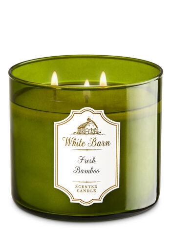 White Barn Fresh Bamboo 3-Wick Candle - Bath And Body Works