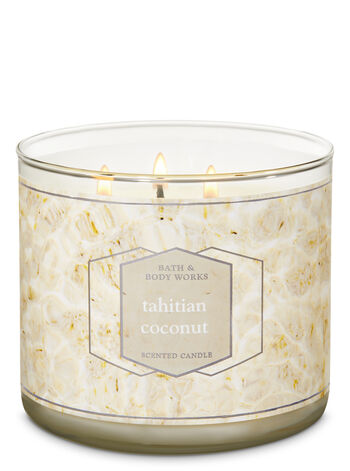 Tahitian Coconut 3-Wick Candle - Bath And Body Works