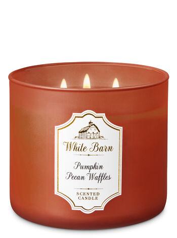 White Barn Pumpkin Pecan Waffles 3-Wick Candle - Bath And Body Works