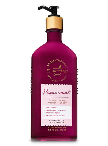 Aromatherapy Peppermint Essential Oil Body Lotion - Bath And Body Works