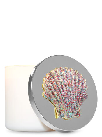 Sparkly Pink Seashell 3-Wick Candle Magnet - Bath And Body Works