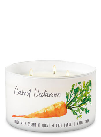 Carrot Nectarine 3-Wick Candle - Bath And Body Works