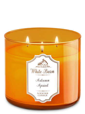 White Barn Autumn Apricot 3-Wick Candle - Bath And Body Works