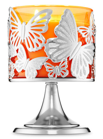 Monarch Butterfly Pedestal 3-Wick Candle Holder - Bath And Body Works
