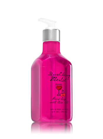 Black Cherry Merlot Hand Soap with Olive Oil - Bath And Body Works