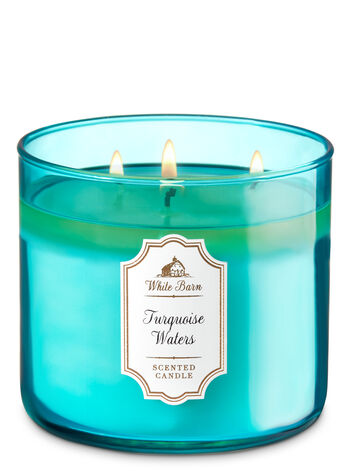 White Barn Turquoise Waters 3-Wick Candle - Bath And Body Works