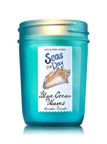 Blue Ocean Waves Medium Candle - Bath And Body Works