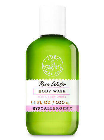 Rose Water Travel Size Body Wash - Bath And Body Works