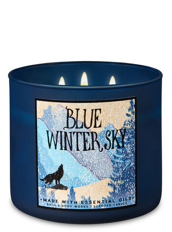 Blue Winter Sky 3-Wick Candle - Bath And Body Works