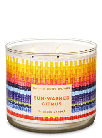 Sun-Washed Citrus 3-Wick Candle - Bath And Body Works