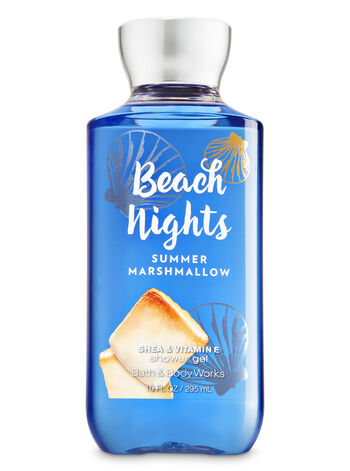 Signature Collection Beach Nights - Summer Marshmallow Shower Gel - Bath And Body Works