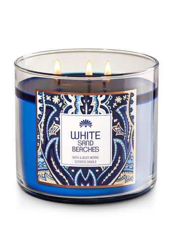 White Sand Beaches 3-Wick Candle - Bath And Body Works