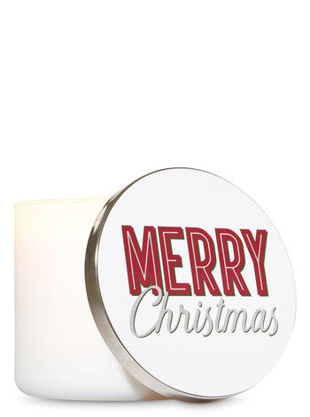 Merry Christmas Candle Lid Magnet - Bath And Body Works