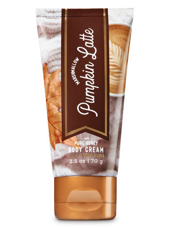 Signature Collection Marshmallow Pumpkin Latte Travel Size Body Cream - Bath And Body Works