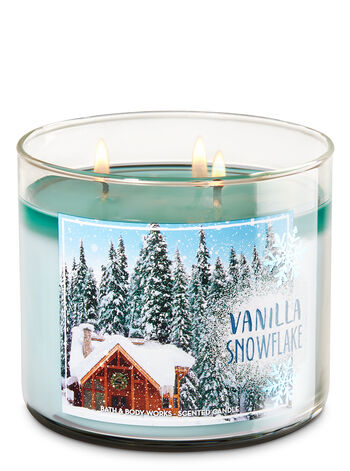 Vanilla Snowflake 3-Wick Candle - Bath And Body Works