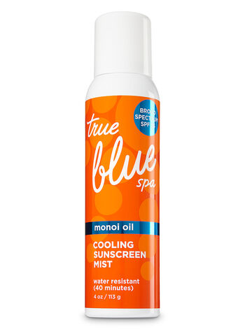 True Blue Spa Cooling Sunscreen Mist Broad Spectrum SPF 25 - Bath And Body Works