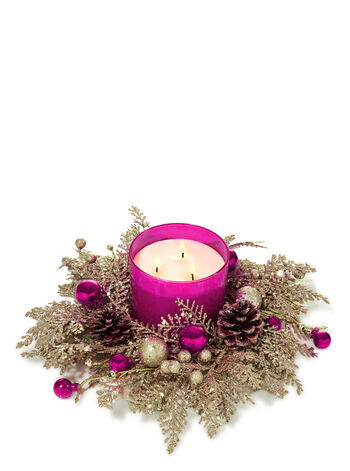 Pink Winter Wonderland 3-Wick Candle Ring - Bath And Body Works