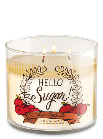 Warm Apple Pie 3-Wick Candle - Bath And Body Works