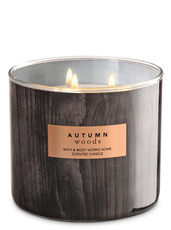 White Barn Autumn Woods 3-Wick Candle - Bath And Body Works