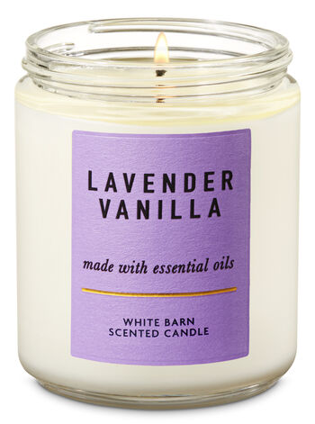 Lavender Vanilla Single Wick Candle - Bath And Body Works