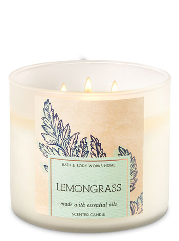 Lemongrass 3-Wick Candle - Bath And Body Works