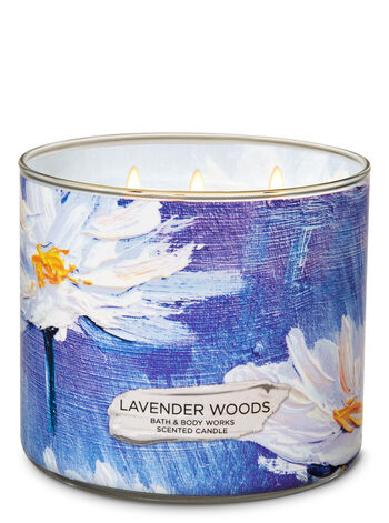 Lavender Woods 3-Wick Candle - Bath And Body Works