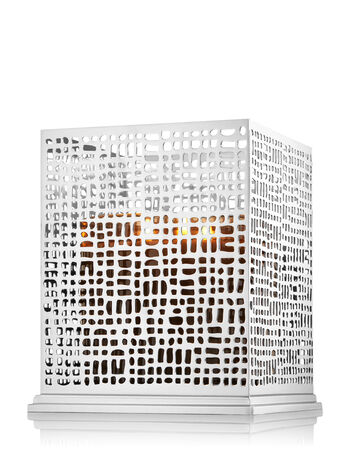 Tall Square Crosshatch 3-Wick Candle Sleeve
