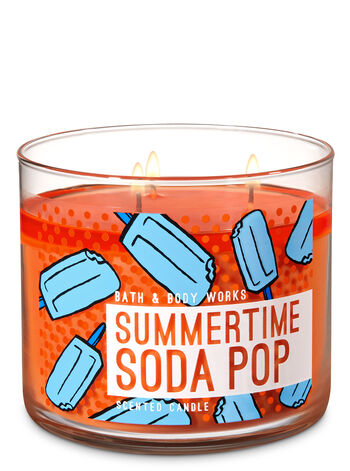 Summertime Soda Pop 3-Wick Candle - Bath And Body Works