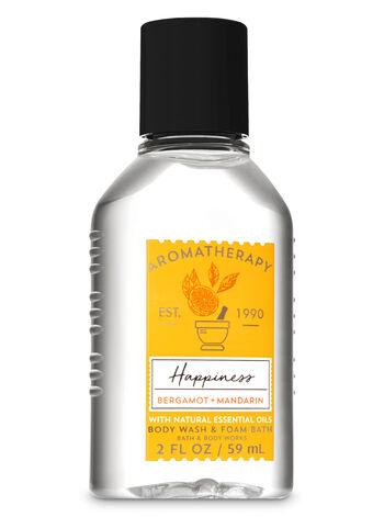 Aromatherapy Happiness - Bergamot & Mandarin Travel Size Body Wash & Foam Bath - Bath And Body Works