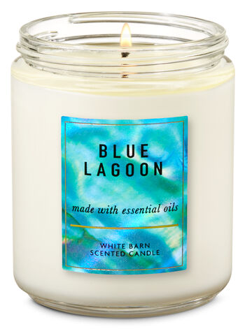 Blue Lagoon Single Wick Candle - Bath And Body Works