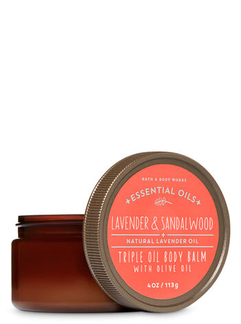 Signature Collection Lavender & Sandalwood Triple Oil Body Balm with Olive Oil - Bath And Body Works