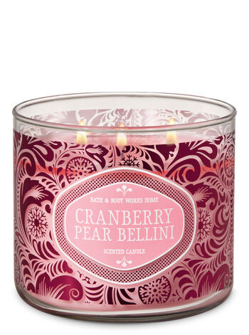Cranberry Pear Bellini 3-Wick Candle - Bath And Body Works