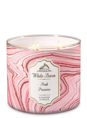 White Barn Pink Prosecco 3-Wick Candle - Bath And Body Works