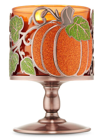 Pumpkin Vine Pedestal 3-Wick Candle Holder - Bath And Body Works