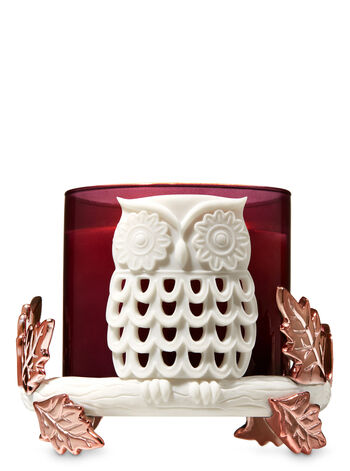 Owl Pedestal 3-Wick Candle Holder - Bath And Body Works