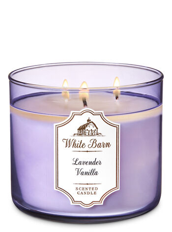 Lavender Vanilla 3-Wick Candle - Bath And Body Works