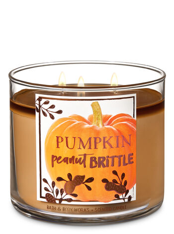 Pumpkin Peanut Brittle 3-Wick Candle - Bath And Body Works