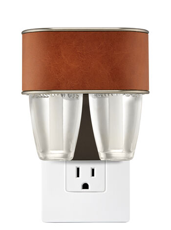 Brown Leather Nightlight Scent Switching™ Wallflowers Duo Plug