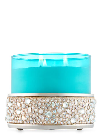 Gems & Glitter 3-Wick Candle Holder - Bath And Body Works