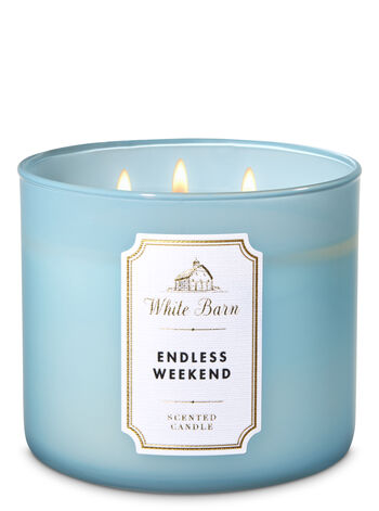 White Barn Endless Weekend 3-Wick Candle - Bath And Body Works