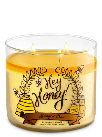 Honeyed Pear 3-Wick Candle - Bath And Body Works