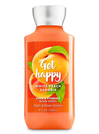 Signature Collection Get Happy - White Peach Sangria Body Lotion - Bath And Body Works