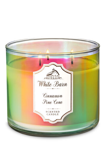 Cinnamon & Pinecone 3-Wick Candle - Bath And Body Works