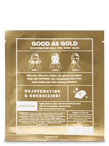 Good As Gold Rejuvenating Gold Foil Face Sheet Mask