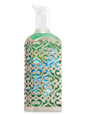 Openwork Pewter Pattern Deep Cleansing Soap Sleeve