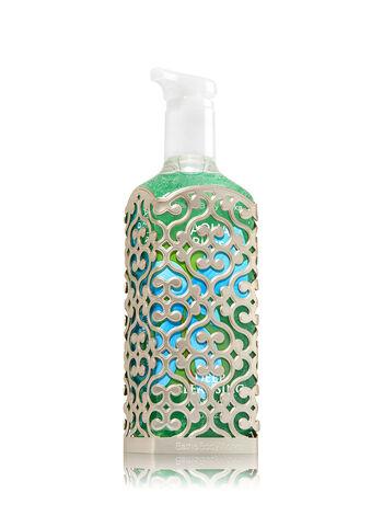Openwork Pewter Pattern Deep Cleansing Soap Sleeve
