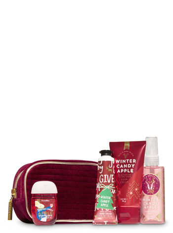 Winter Candy Apple Holiday Mini Cosmetic Bag Gift Set
